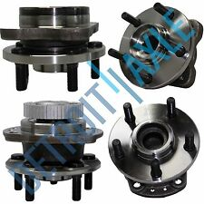 "New 4 pc Set: Front and Rear Wheel Hub and Bearing Assembly - 14"" Wheels w/ ABS"
