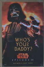 Who's Your Daddy Star Wars Darth Vader 2005 Father's Day Promo Movie Poster