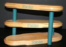 VTG Dexter Shoe Display 3-Tier Wooden Store Counter Display Dexter Shoes EUC