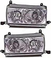 Headlight Set Crystal Clear For TOYOTA Land Cruiser 80 1990-1997