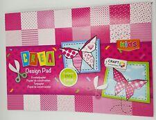 36cm x 24cm scrapbooking paper Funky pink  - 24 sheets / 2 x 12 designs