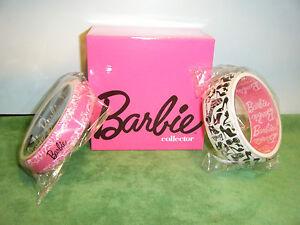BARBIE COLLECTOR ACRYLIC BANGLE BRACELETS *NEW*