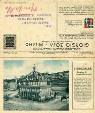 G. ZOJA - MI. LAB. CHIM. FARMACEUTICO-1934  SASSARI -