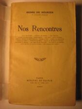 1931 'NOS RENCONTRES' SIGNED BY HENRI DE REGNIER