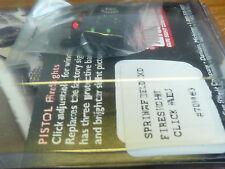 WILLIAMS GUN SIGHTS FIBER OPTIC FOR SPRINGFIELD XD XDM CLICK ADJ LIGHT GATHERING
