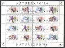 Hungría 1996 Cat/lince/Beetle/Pájaro/Flor 16v Sht b7198a