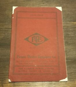 1912 Picture Theatre Equipment PTE Catalogue Movie Projector Motion Supply Book