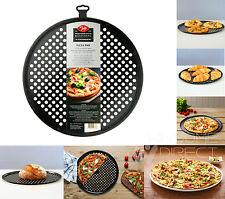 "14"" / 35.5 cm Round Vented Non Stick Pizza Baking Pan Oven Tray Chip Cooking Tin"