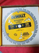 DEWALT DW3578 7-1/4-Inch 24T Framing Carbide Thin Kerf Circular Saw Blade