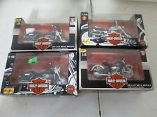 4 Maisto Harley Davidson Motorcycles 1/18 with Electraglide and Knucklehead