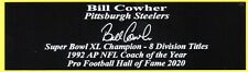 Bill Cowher Pittsburgh Steelers Autograph Nameplate Football Hall of Fame 2020