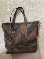 LUCKY BRAND Large Brown Leather Shoulder Hobo Tote Satchel Purse~Beautiful!