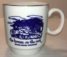 THE HOUSE ON THE ROCK SOUVENIR MINIATURE COFFEE TEA BEER CUP MUG SPRING GREEN WI