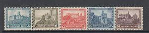 Germany - Welfare Fund Issue (Castles) (MLH Full Set) 1932 (CV $110)