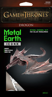 Fascinations Metal Earth ICONX Game of Thrones DROGON 3D Laser Cut Model Kit