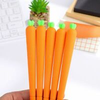 Carrot Simulation Gel Pen Creative Cute Stationery Gift Party Favor Supply Gift