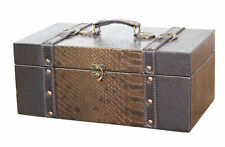 New Vintiquewise 14 Inch Princess Leather Trunk, Designer Treasure Chest