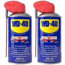 2 x WD-40 Multi Purpose Lubricant Spray Smart Straw Cleans & Protect Rust 300ml