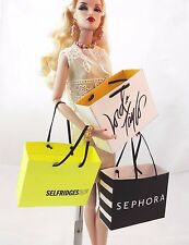 """Faux designer shopping bag for your FR, Barbie, other 12"""" fashionistas"""