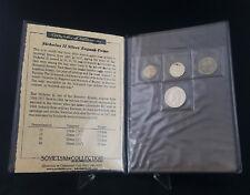 Nicholas II Russian Silver Kopecks Collector Set w/ COA feat. VF 1897 50 Kopeck