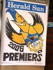 West Coast eagles weg poster 2006 been stored flat mint condition