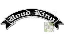 Rückenaufnäher Patch ROAD KING Schwinge V2 oben 35cm stick, Rocker Biker Kutte