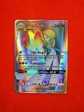 225/214 RARE carte card holo Pokemon GARDEVOIR & SYLVEON GX HP anglaise replica