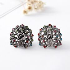 Animal Peacock Earrings Clip On Jewellery Non Pierced Ears Fashion Jewelery