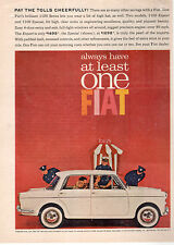 1960's-70's FIAT 1100 SERIES CAR FULL PAGE MAGAZINE AD-IN PLASTIC SLEEVE-VINTAGE