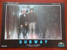3 LOBBY CARD SUBWAY EN BUSCA DE FREDY LUC BESSON