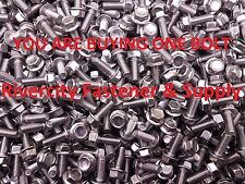 (1) M6-1.0 x 16 / M6x16 Hex Flange Bolts Din 6921 6mm x 16mm Stainless Steel