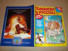 CORRIERE DEI PICCOLI 1991 NR.40 POSTER GINO/MIETTA/NINJA TURTLES/CONTE DACULA