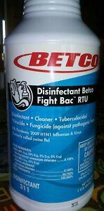 Betco Disin Cleaner Fight Back RTU, 1QT, FREE SHIPPING