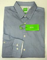 NWT $145 Hugo Boss Blue Shirt LS Mens M L XL XXL C-Bustai 50326513 493 Regular
