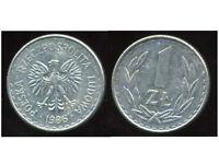POLOGNE  1 zloty  1986
