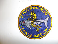 b4009 1960s-70s US Navy Scuba Divers We Dive the World Over patch IR32B