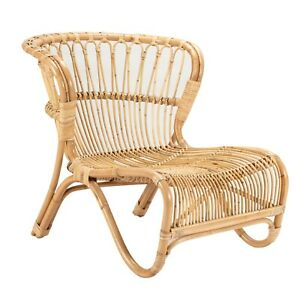 Low Chair In Natural Rattan, Wicker, Cane Chair