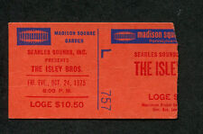1975 Isley Brothers Concert Ticket Stub Madison Square Garden The Heat Is On