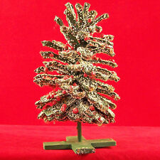 "Vintage 1970's Genuine Pinecone Tabletop Holiday Xmas Tree Painted Green 9"" Tall"