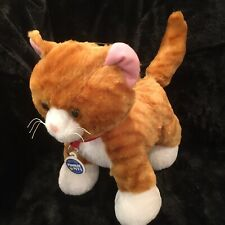 Orange Tabby Cat BAB Build a Bear Realistic Kitten Plush Stuffed Animal