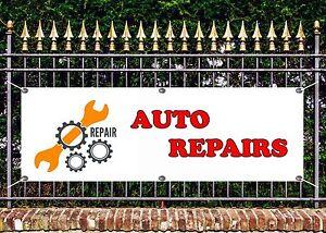 OUTDOOR PVC CAR REPAIR AND SERVICE  BANNER GARAGE SIGN ADVERT FREE ART WORK