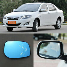 Rearview Mirror Blue Glasses LED Turn Signal with Heating For Toyota Corolla HG