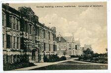Geology Building Library Auditorium University Oklahoma Norman OK postcard