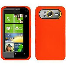 AMZER Silicone Soft Skin Jelly Fit Case Cover for HTC HD7 - Orange