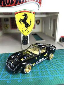 🔴Hot Wheels 2021 Custom Garage Ferrari Racing 250 GTO with Real Riders'black'