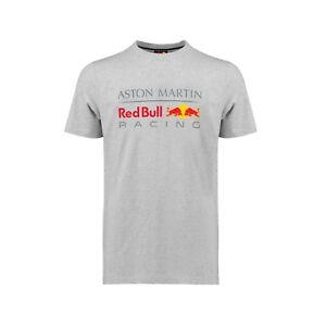 Aston Martin Red Bull Racing Official Men's Large Logo T-shirt - Grey - 2018/19