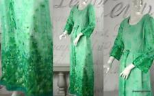 vintage 70's boho flower child sweet aqua mint floral maxi dress Posh Anderson S