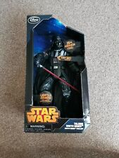 "TALKING DARTH VADER FIGURE 13"" 15+ phrases Star Wars Disney Store boxed"