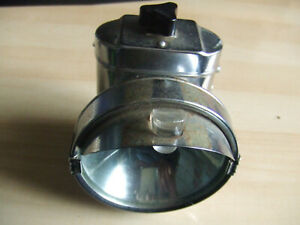 Untested - Vintage Retro Pifco Front Bike Light Chrome Look Made in Hong Kong  2