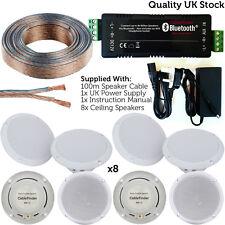 Inalámbrico/bluetooth amplificador Kit de altavoz de techo 80W y 8x – Casa Hi-Fi sistema de AMP
